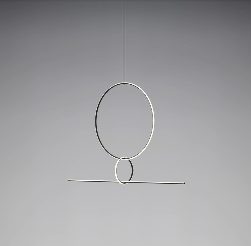 The latest in a long collaboration between Michael Anastassiades and Flos, Arrangements, seen at Euroluce, is a modular lighting system that can be fashioned into different compositions.  Photo 7 of 11 in The Best Things We Saw at Milan Design Week 2017