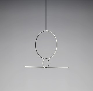 The latest of many collaborations between Michael Anastassiades and Flos, Arrangements, seen at Euroluce, is a modular lighting system that can be fashioned into many different compositions.