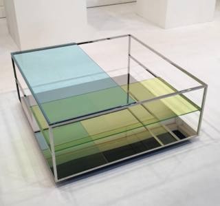 Glass may have been the most popular material this year in Milan. The multicolored Floe coffee table by Daisuke Kitagawa of Design for Industry is a prime example.