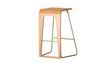 Kama Stool </p><p> Le point D's Kama bar stool comes in eight metal colors and four seat finishes, and the flexible design lets you switch sides to sit or sit/stand.   lepointd.com