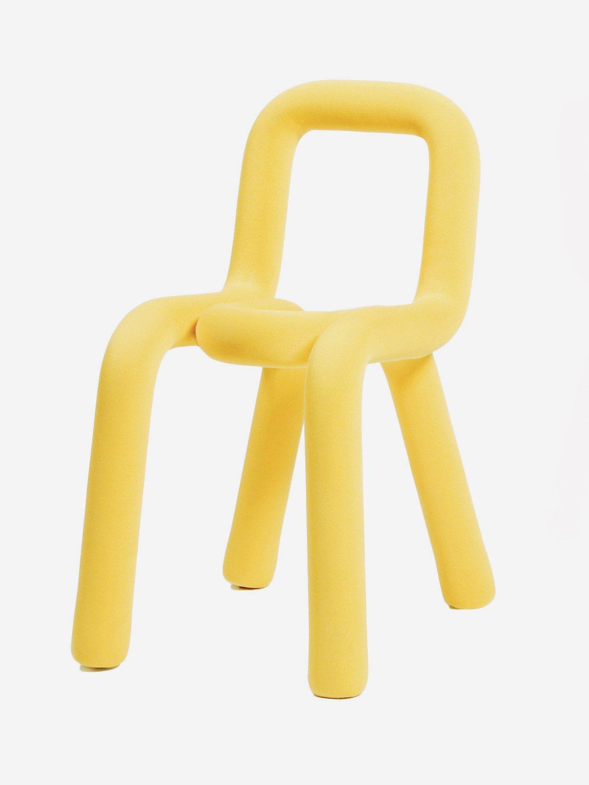 Bold Chair   Beneath its removable textile cover, which comes in 13 colors, Moustache's Bold  chair is an updated version of a bended chair in tubular steel.  moustache.fr  Photo 6 of 13 in Color Unleashed