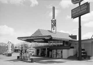 Frank Lloyd Wright's Little Known Gas Station For the Future