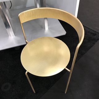 The Brass Avoa chair, designed by Pedro Paolo Venzon for Matter.