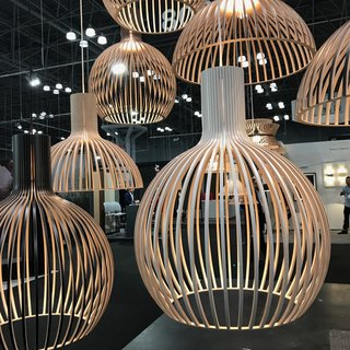 We were happy to see the US reintroduction of Secto Design's line of handcrafted Finnish lighting pieces made of Scandinavian birch. As of this week, the pieces will be stocked and distributed throughout the US via a Wisconsin warehouse. The entire collection is designed by Finnish architect Seppo Koho.