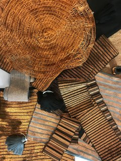 Lulu Mena, an El Salvador-based textile company, presented a recycled-copper textile. They make everything by hand using sustainable practices, working with local artisans.