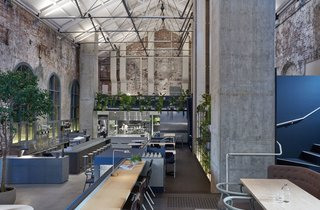 An Old Power Station in Melbourne is Transformed Into A Modern Tiered Restaurant