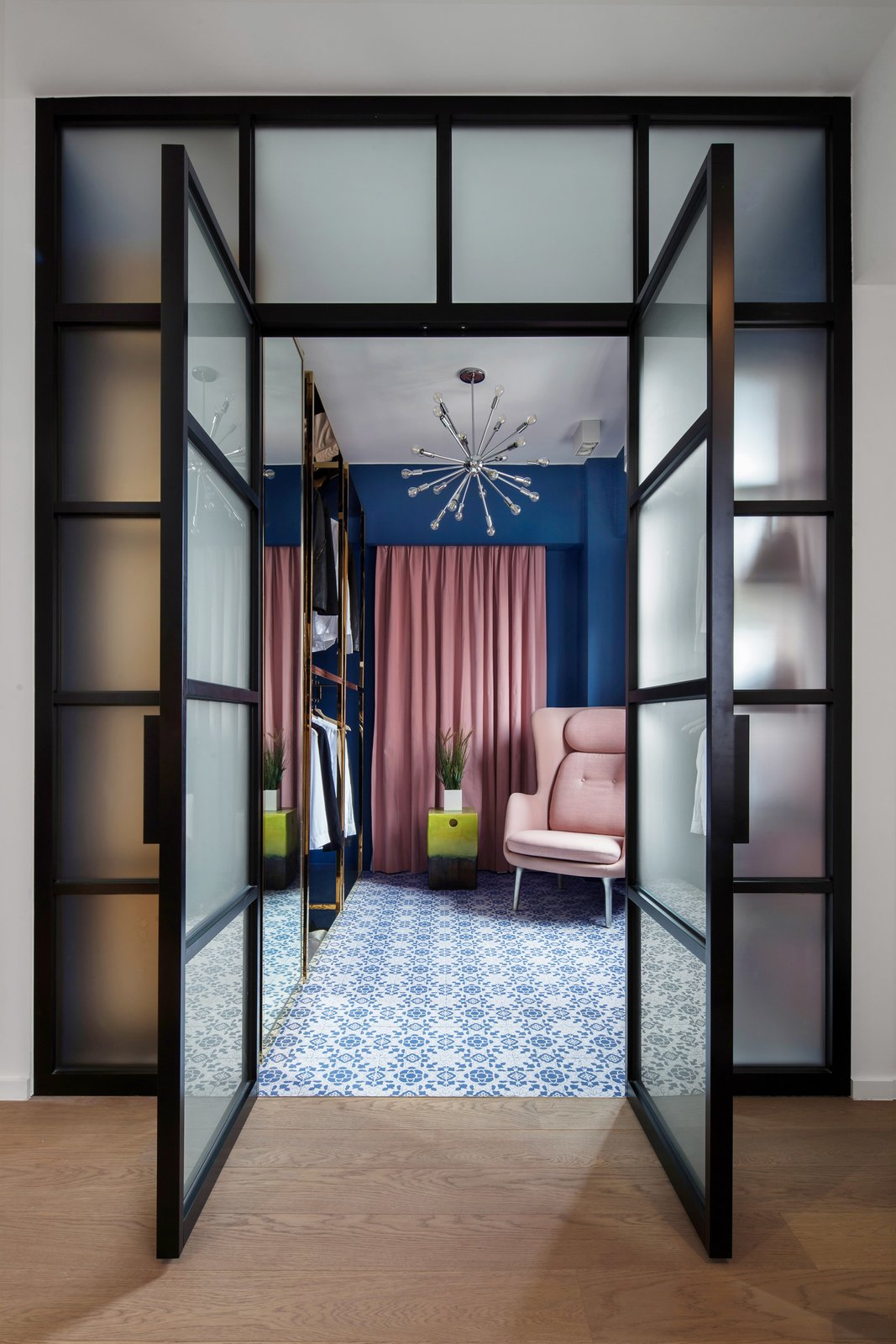 Storage Room and Closet Storage Type  Photo 6 of 7 in See How This Colorful Hong Kong Apartment Was Made to Feel Bigger Than it Actually Is