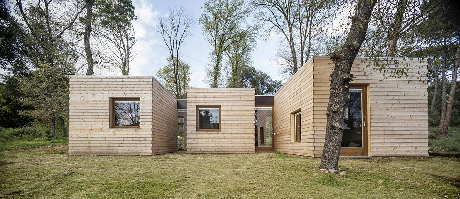 Tagged: Exterior, Prefab Building Type, Wood Siding Material, and Flat RoofLine.  Photo 3 of 8 in 7 Affordable Prefab Homes and Other Alternative, Inexpensive Home Options