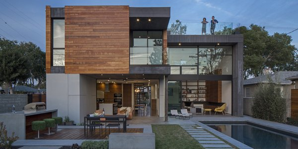 A pair of Icelandic prefab pioneers deliver an efficient family home in Culver City.  Building smarter is at the heart of everything designers Tryggvi Thorsteinsson and Erla Dögg Ingjaldsdóttir do. Whether they're testing the limits of indoor/outdoor living or developing a prefabricated wall system that they hope will make traditional wood framing a thing of the past, the founders of the Santa Monica design studio Minarc are consumed with making structures stronger, lighter, and more efficient.