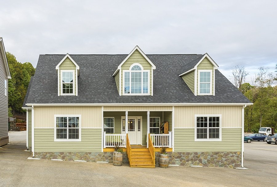 Exterior, House Building Type, Prefab Building Type, Wood Siding Material, and Gable RoofLine The popularity of modular homes is exploding. The quality of materials and workmanship have improved to the point where modular homes are at least as good as, and sometimes better, than stick-built homes.  Photo 11 of 11 in 10 Kit Home Companies in the South