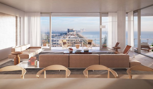 Sneak Peek of Renzo Piano's New Stunning Oceanfront Condominiums in Miami's North Beach