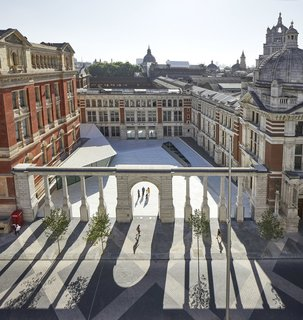 Shown here is the Sackler Courtyard at the Victoria & Albert Museum's Exhibition Road Quarter.