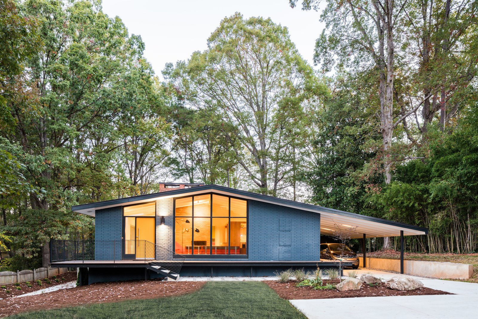 Photo 1 of 14 in Elegantly Renovated, a Midcentury Home in Raleigh Asks $975K