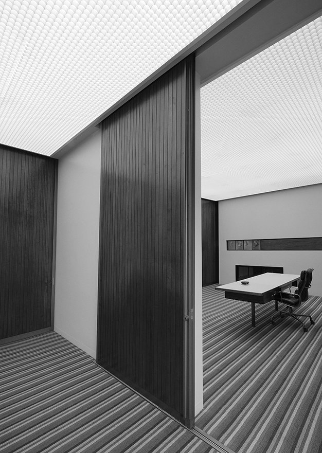 Inside the Columbus, Indiana, office of J. Irwin Miller, designed by Alexander Girard. - Columbus, Indiana Dwell Magazine : July / August 2017  Photo 13 of 19 in Ode to a Forward-Thinking America: Columbus, Indiana