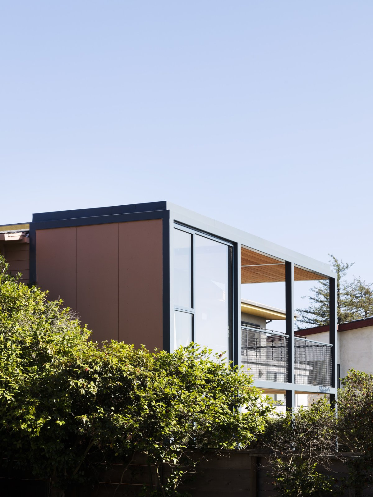 Outdoor and Trees  Photo 14 of 14 in Grids and Colors Inspire the Renovation of a Graphic Designer's Pink L.A. Bungalow
