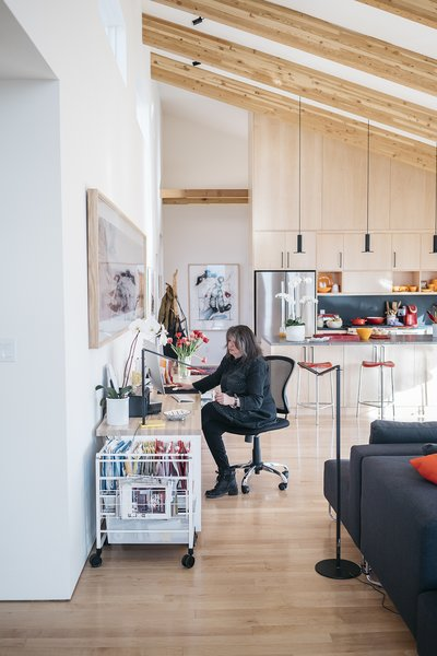 - Taos, New Mexico Dwell Magazine : July / August 2017  Photo 9 of 11 in A Rookie Designer and Her Builder Father Create an Artist's Sculptural Loft in the Desert