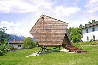 Stay in a Tiny Shingled Cabin in Austria That Resembles a Bird-Like UFO