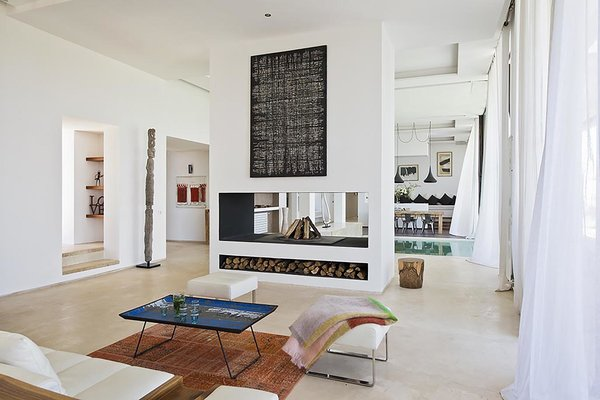 Stay in a Chic and Modern Moroccan Villa Near the Medina of Marrakech - Photo 3 of 11 - While the whole house is air conditioned, it also includes central heating and a fireplace for the colder months.