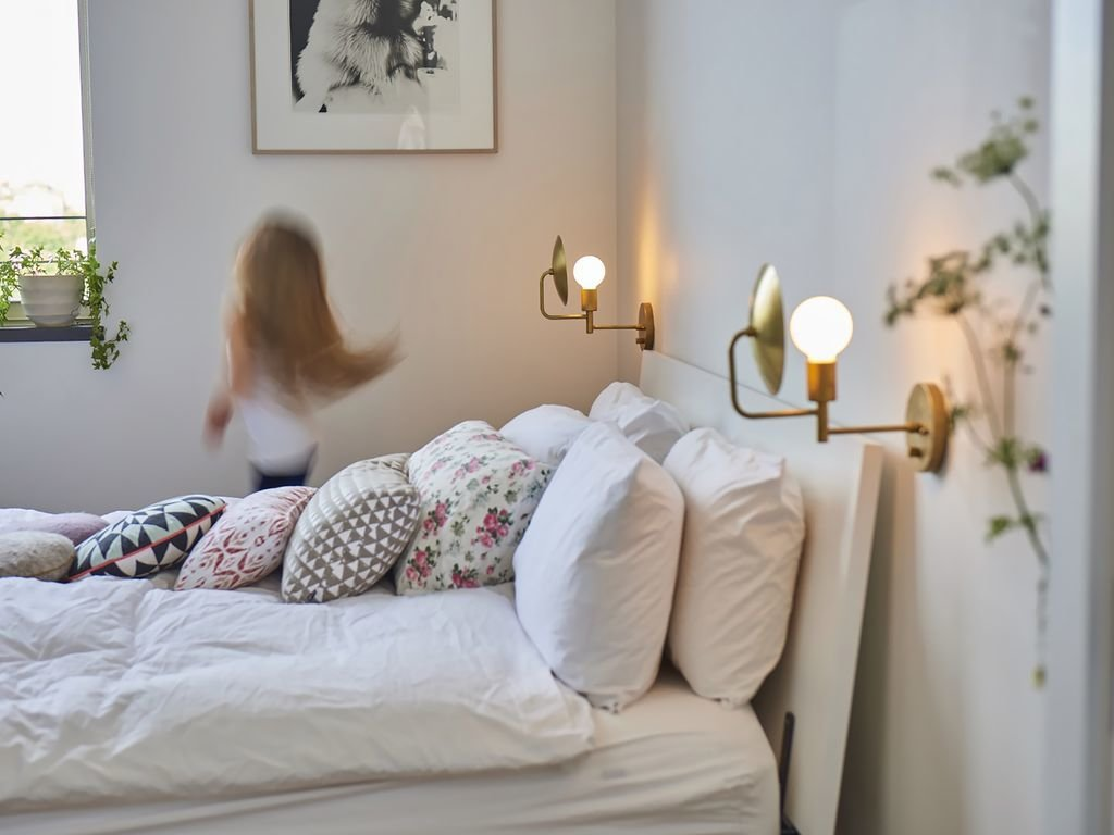 Kids Room, Bedroom Room Type, Bed, Pre-Teen Age, and Girl Gender  Photo 10 of 12 in Experience New York City's Eclectic Side at One of These Modern Short-Term Rentals