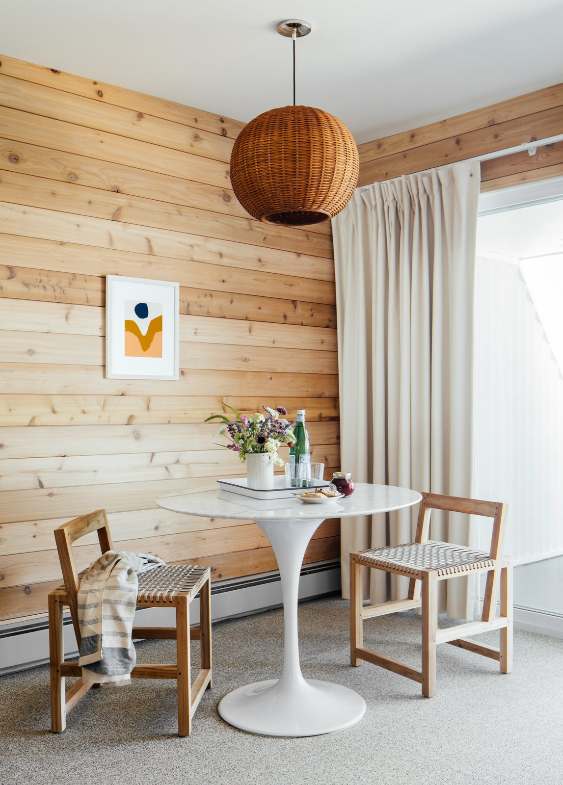 Dining Room, Chair, Table, Pendant Lighting, And Carpet Floor Photo 6 Of