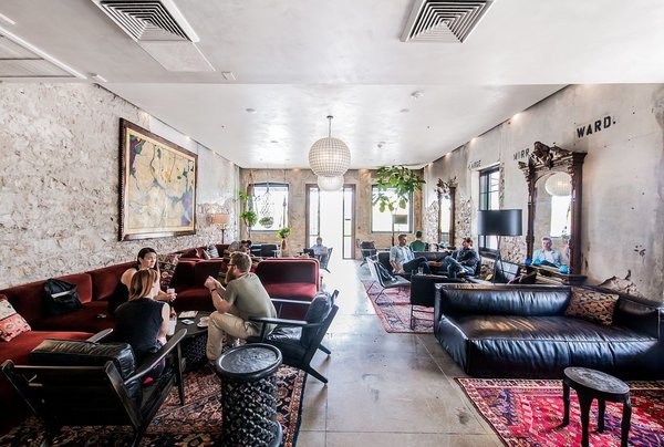 A New Experiential Hostel in Austin Offers Unique Lodging in a Restored Railway Hotel
