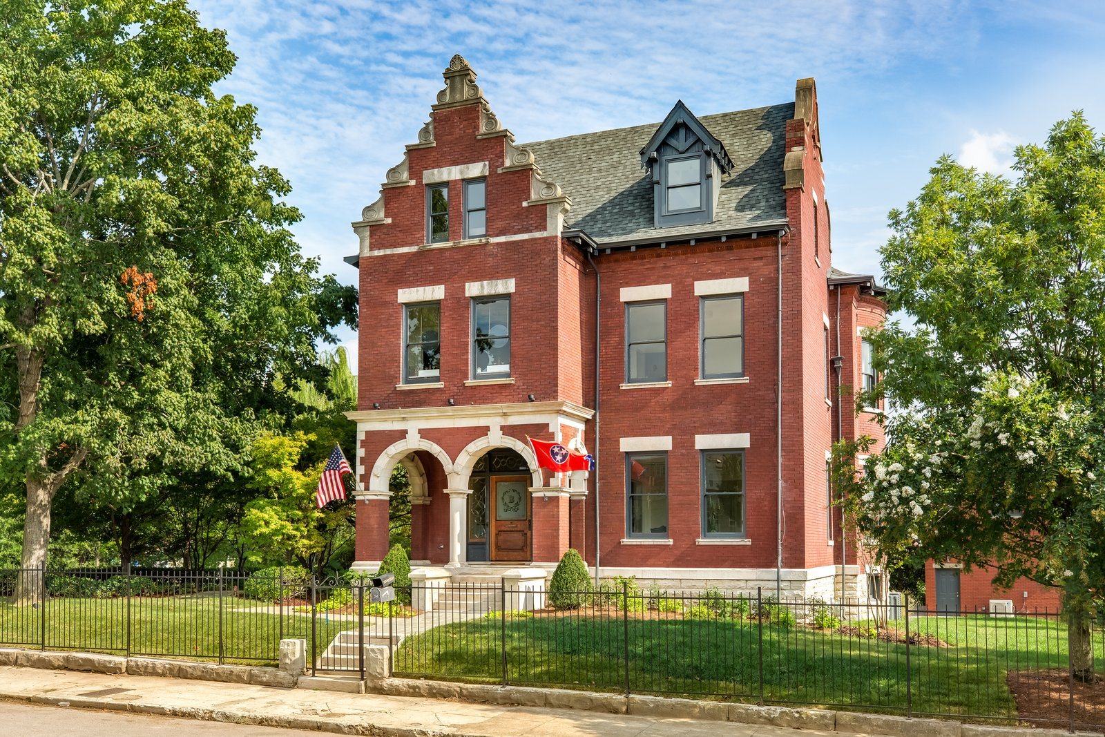 Photo 1 of 14 in Modern Interiors Shine Behind the 19th-Century Facade of This Nashville Home, Now Asking $2.1M
