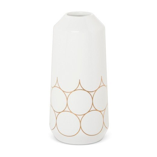 Modern by Dwell Magazine Stoneware Metallic Vase - Small
