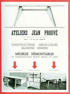 An Expanded Monograph Looks Back on the Life and Career of Modern Master Jean Prouvé - Photo 1 of 3 - Jean Prouvé (1901-1984) opened his first workshop in Nancy, France, making wrought iron grilles and doors. </p><p><br> Advertisement from the Ateliers Jean Prouvé, in L'Architecture d'Aujourd'hui No. 2, July-August 1945 ©D.R.