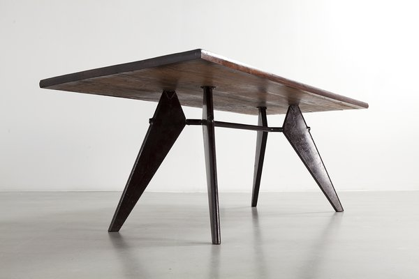 Over the course of his life, he pursued design that addressed serious problems, such as emergency housing, and pioneered prefab manufacturing techniques to equip hospitals, schools, and offices with furniture and fittings of his own creation.</p><p><br> Jean Prouvé, S.A.M No. 506 Table ©Patrick Seguin