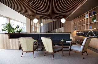 Spain's Basque Coast Gets a New Modern Hotel With a Michelin-Starred Restaurant - Photo 4 of 12 - The common areas are completely paneled in wood, which creates a consistent thread throughout.
