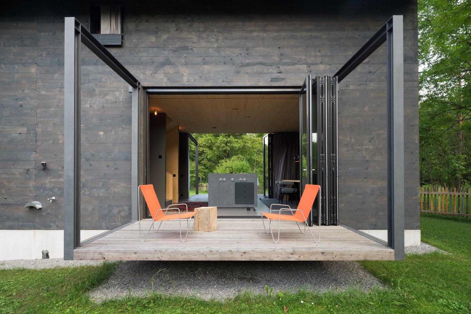 Doors, Folding Door Type, Exterior, and Metal  Photos from A Peaceful Bavarian Retreat With Expansive Outdoor Terraces