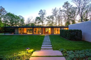 A Renovated, Midcentury Glass-and-Steel House in New York Asks $2M - Photo 1 of 9 -