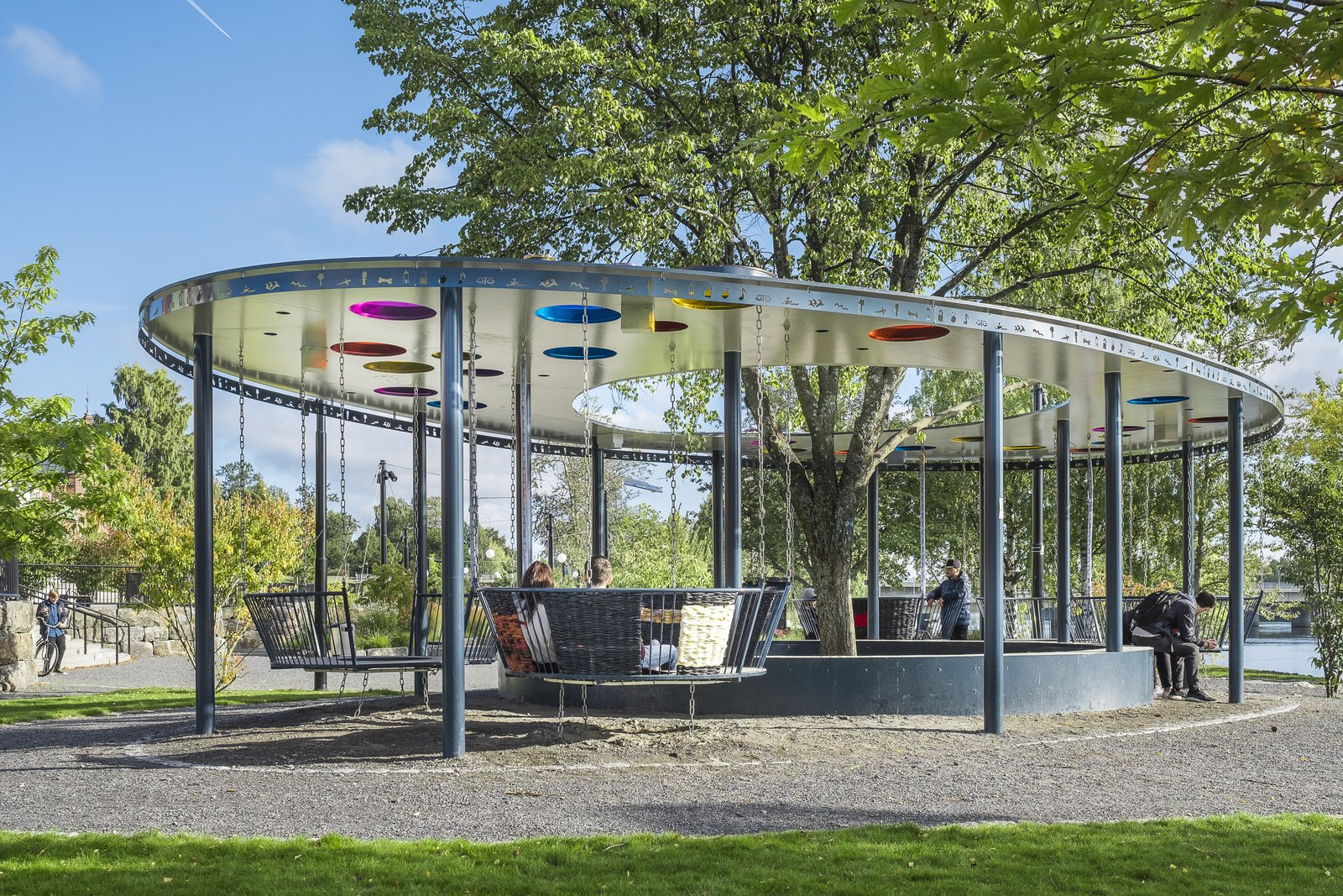 Outdoor, Trees, Grass, Walkways, and Hardscapes  Photo 1 of 3 in A Swedish Vision For Democratic Architecture Lands in New York