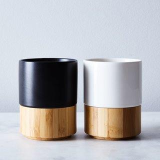 Esselle Magnetic Stoneware & Bamboo Mug