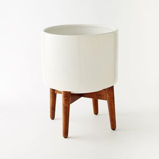 West Elm Midcentury Turned Leg Standing Planters – Solid