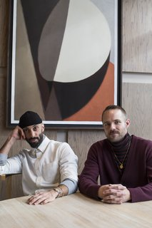 Gabriel Hendifar and Jeremy Anderson, founders of the New York-based lighting studio Apparatus.