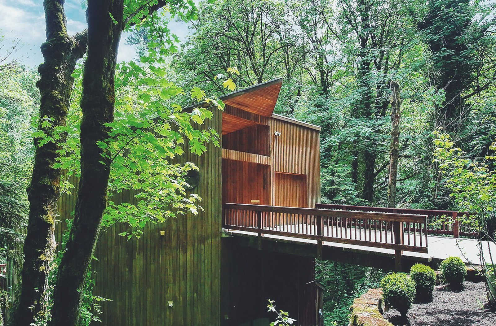 this tree house for rent near downtown portland doubles as an art