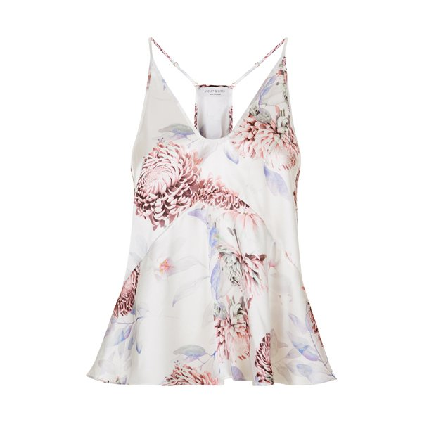Violet and Wren Peplum Cami in Orient Whisper by