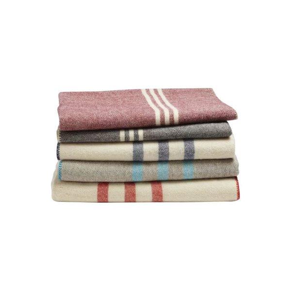 Striped Wool Throw Blanket