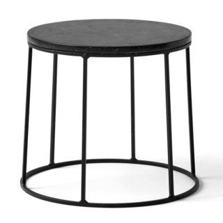 Menu Wire Stand & Marble End Table