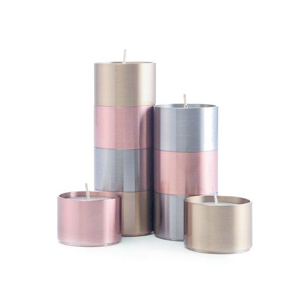 """Copper & Brass Candleholder """"Trepas"""""""