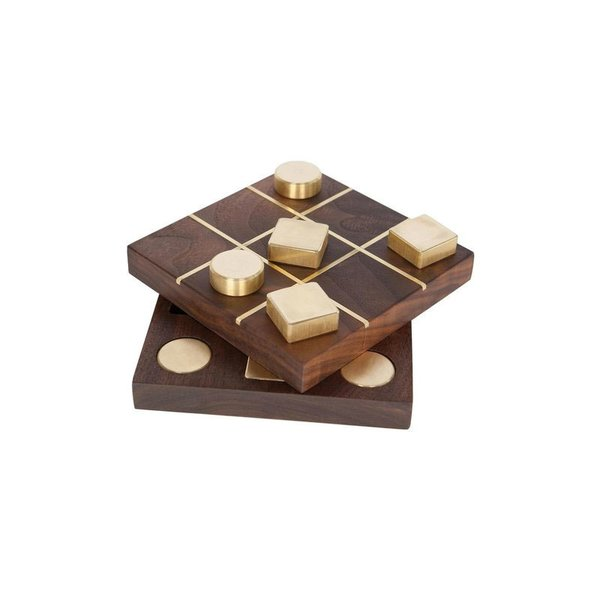 Chris Earl Black Walnut Tic Tac Toe Set