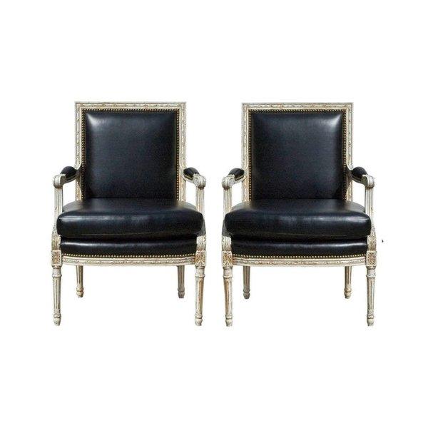 Vintage Louis XVI Bergere Chairs
