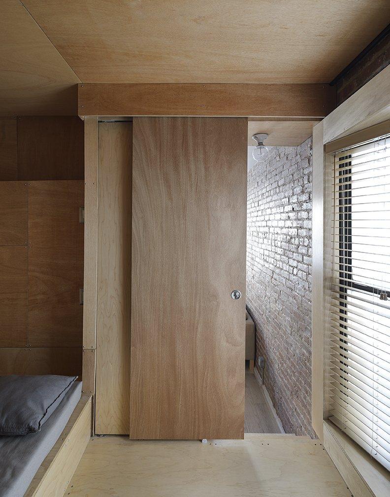 wood sliding door