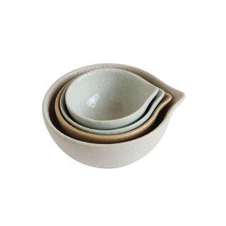 Creative Co-op 4 Piece Stoneware Prep Bowl Set