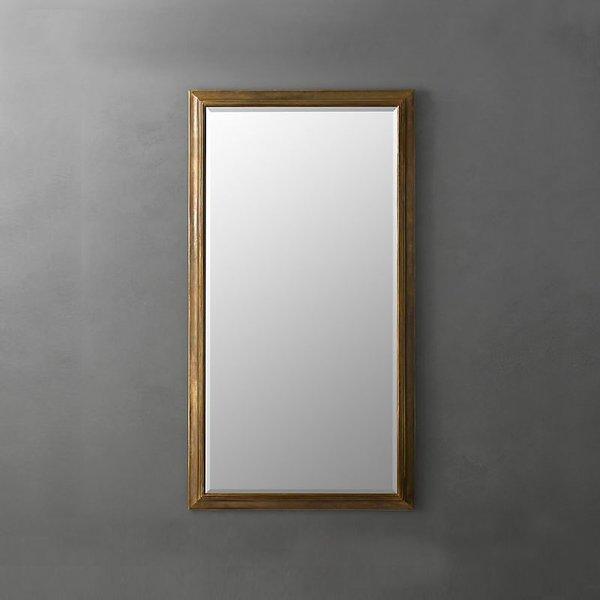 Restoration Hardware English Aged Mirror with Aged Brass Finish