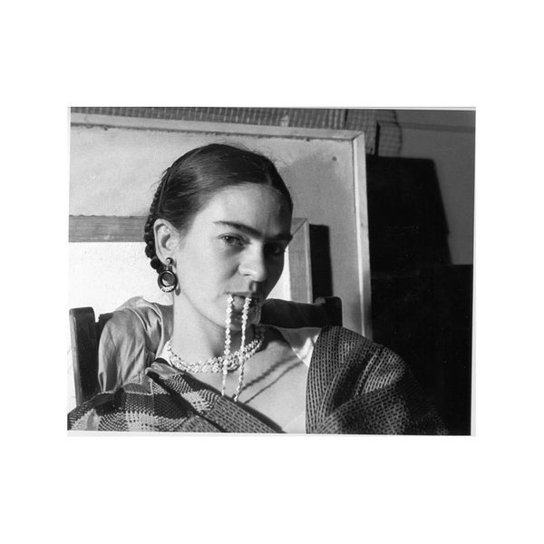 Lucienne Bloch Photograph: Frida Biting Her Necklace