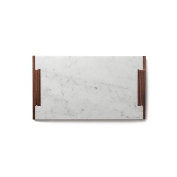 Fire Road Marble + Walnut Serving Tray