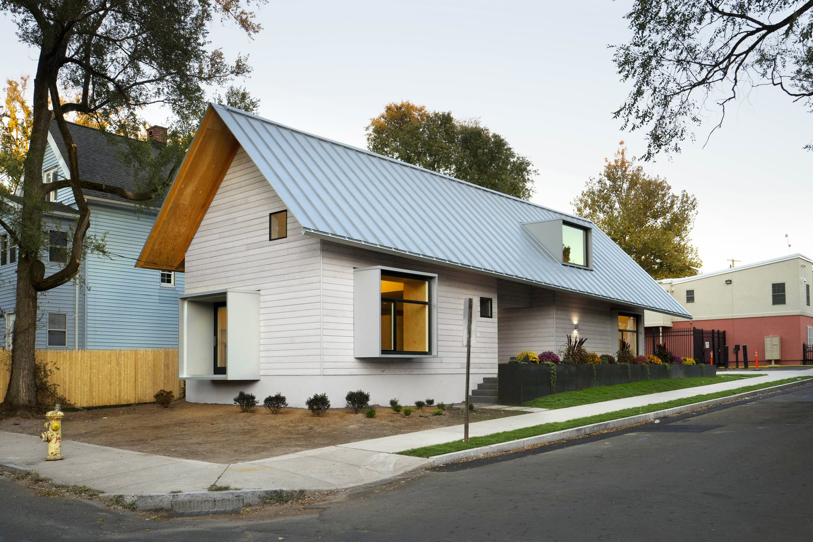 Exterior, Metal Roof Material, House Building Type, Wood Siding Material,  And Shed