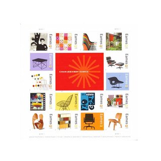 USPS Charles and Ray Eames Collectible Sheet of 42 Cent Stamps